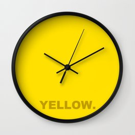 Yellow color less is more, happy summer design Wall Clock