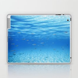 School of Fish Swimming over Sand Bottom in the Tropical Sea Laptop & iPad Skin