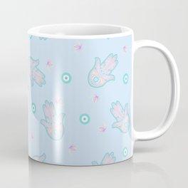 Blue Hamsa Toss Coffee Mug