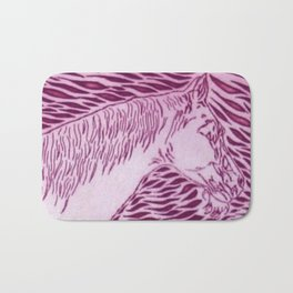Abstract Silver Bath Mat