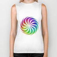 rainbow Biker Tanks featuring Rainbow by David Zydd