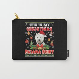 This Is My Christmas Pajama Shirt Westie Dog Ugly Carry-All Pouch