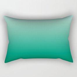 Ombre Teal Green Gradient Pattern Rectangular Pillow
