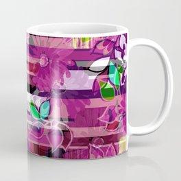 Floral Stripe Coffee Mug