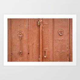 locked door in egirdir Art Print