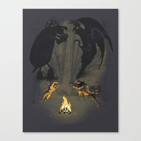 Let's settle it - in the shadows.  Canvas Print