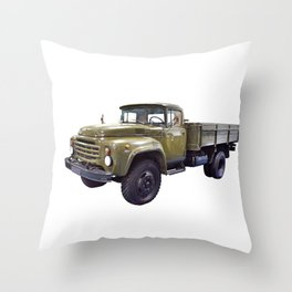 Old military russian truck Throw Pillow