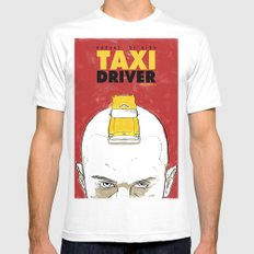 Taxi Driver Mens Fitted Tee SMALL White