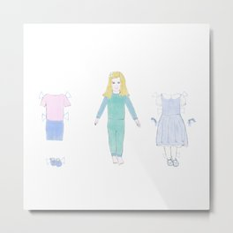 paper doll Lily  Metal Print