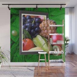Modern Fruit Basket Still Life Wall Mural