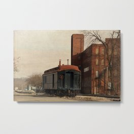 Textured Train Metal Print