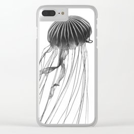 Minimal Jellyfish Clear iPhone Case