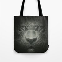 tiger Tote Bags featuring Tiger by Dr. Lukas Brezak