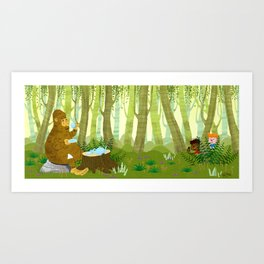 Bigfoot Busted Art Print