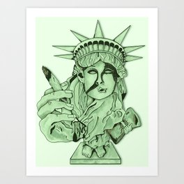 Liberal Lady Liberty Art Print