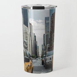 Taxis on New York City Street Travel Mug