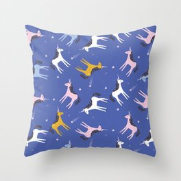 Super unicorn sparkles Throw Pillow