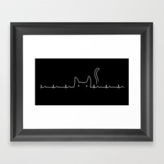There is a cat in my heart Framed Art Print
