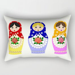 Russian matryoshka nesting dolls Rectangular Pillow
