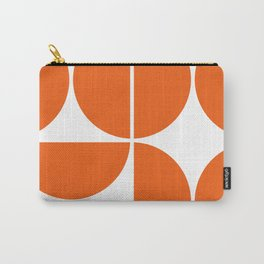 Mid Century Modern Orange Square Carry-All Pouch