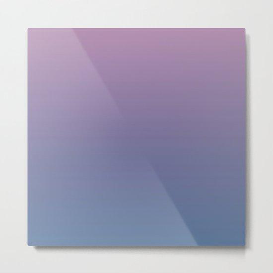 Gradient Dawn Pink Purple Blue Metal Print