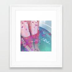 Flower Bath 4 Framed Art Print