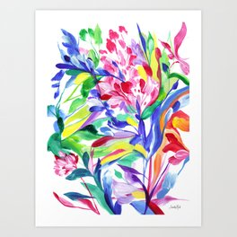 Abstract Roses 3 Art Print
