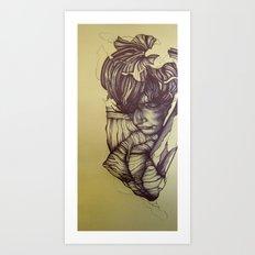 Boy on Gold Art Print