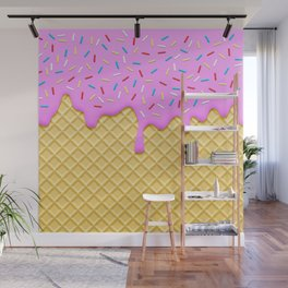 Strawberry Ice Cream Wall Mural