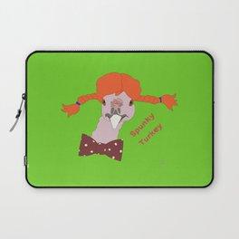 Spunky Turkey Orange Hair GB TX Laptop Sleeve