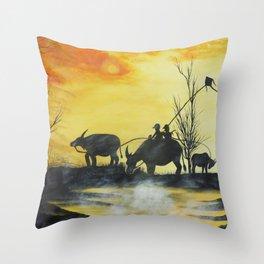 Our Evening Throw Pillow