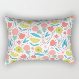 Geometric Floral Pattern Rectangular Pillow