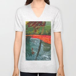 Leaf Litter in Lake Unisex V-Neck