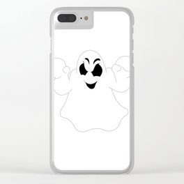 Halloween Ghost Clear iPhone Case