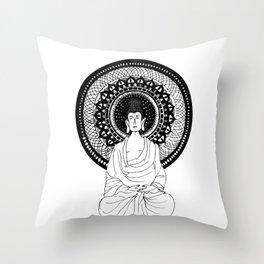 The Monk- White Throw Pillow