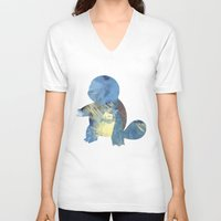 squirtle V-neck T-shirts featuring Squirtle by S3NTRYdesigns