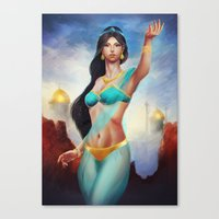 jasmine Canvas Prints featuring Jasmine by Meder Taab