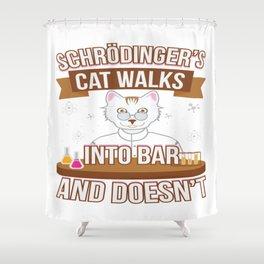 Schrödinger Cat Physics Math Teacher Student Gift Shower Curtain