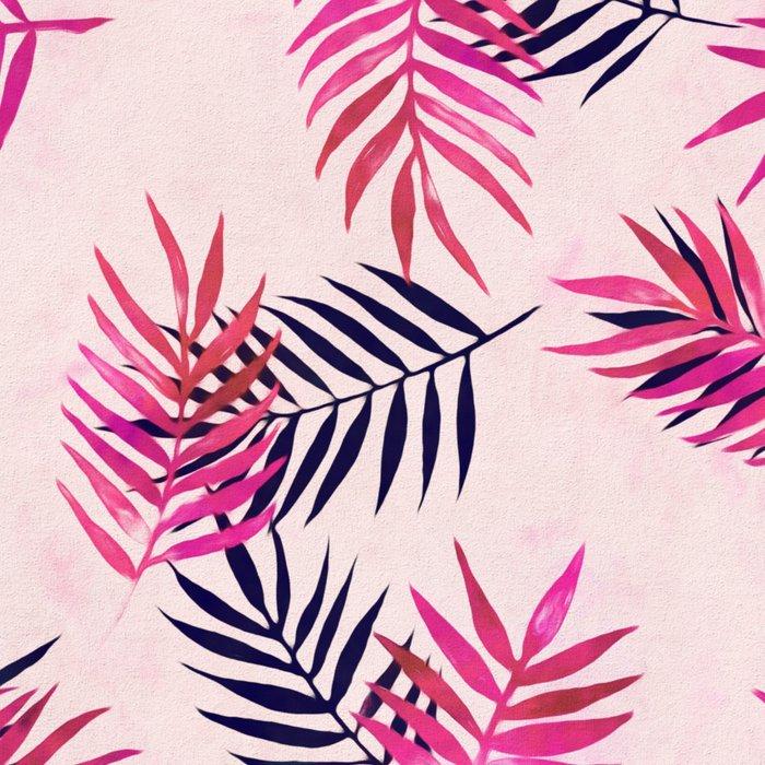 Pink Palm Pattern Leggings
