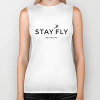 neverland Biker Tanks featuring Stay Fly - Neverland by stella nova