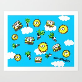 Cheeseburgers in Paradise Art Print