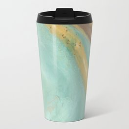 Green and Gold Geode Travel Mug