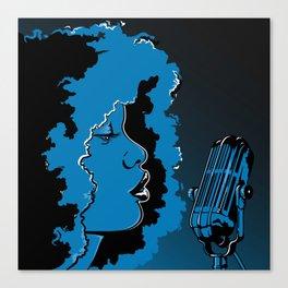 Jazz singer Canvas Print
