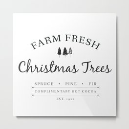 Christmas Tree Farm Art Print Gift Metal Print