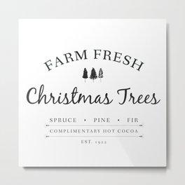 Christmas Tree Farm Art Print Gift Metal Print