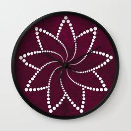 Zen Floral Mandala Wall Clock
