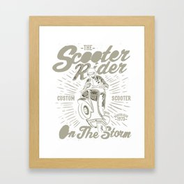 The Scooter Rider Framed Art Print