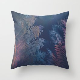 Abstract Fern Throw Pillow