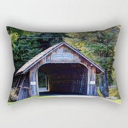 Will Henry Stevens Covered Bridge Rectangular Pillow