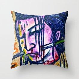 Samurai Scorn Throw Pillow